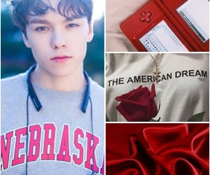 aesthetic, red, and vernon image