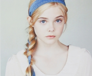 girl, Elle Fanning, and blonde image