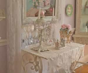 beautiful, shabby chic, and pink image