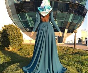 beauty, long dress, and chechen image