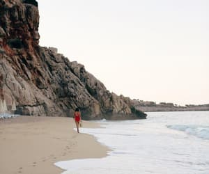 alone, girl, and landscapes image