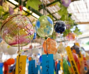 culture, wind chimes, and glass image