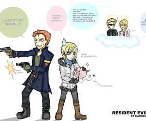 funny, resident evil 6, and cute image