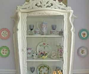 ornate, shabby chic, and display cabinet image