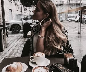 coffee, girl, and delicious image