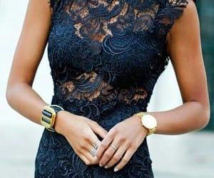 fashion, dress, and lace image