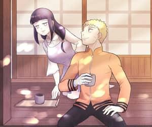 anime, naruto, and anime couple image