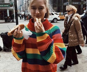 fashion, outfit, and rainbow image