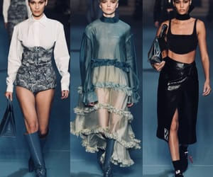 fashion show, runway, and off white image