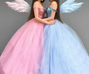dress, girls, and angels image