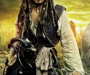captain jack sparrow, johnny depp, and pirates of the carribean image