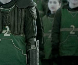 green, slytherin, and quidditch image