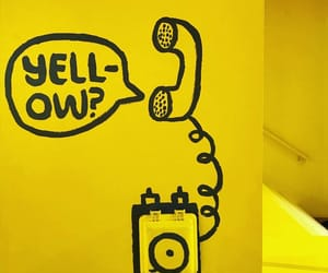 wall and yellow image