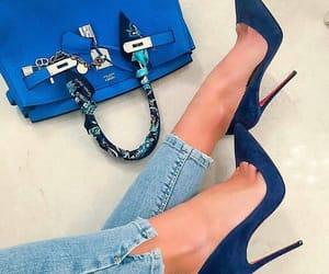 heels, blue, and fashion image