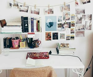 desk, college, and room image