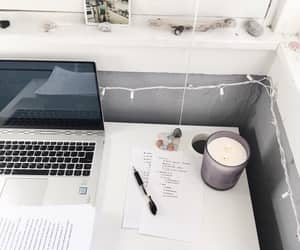 candle, college, and garland image