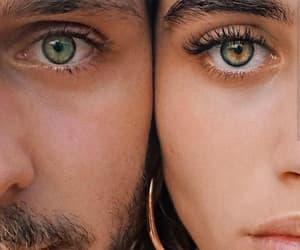 couple, eyes, and style image