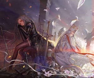 fate, anime girls, and light and shadow image