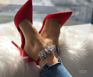 fashion, diamond, and red image