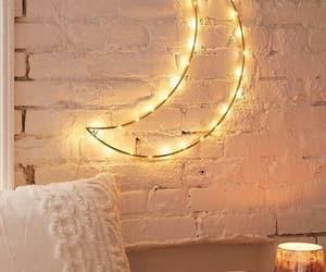 bedroom, light, and lua image