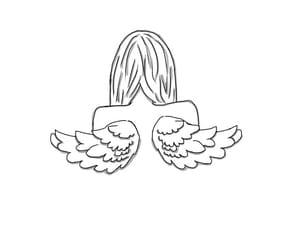 angel, art, and drawing image