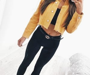 fashion, black, and yellow image