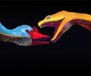 kiss, gif, and snake image