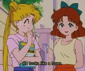sailor moon, anime, and loser image
