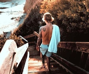 justin bieber and beach image