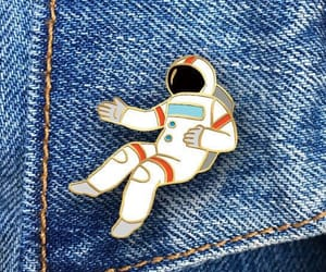 pins, astronaut, and jeans image