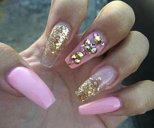 glamour, glitter, and pink image