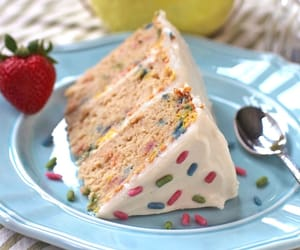 cake, frosting, and sprinkles image