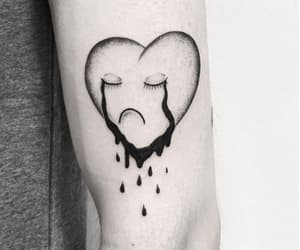 cry, crying, and heart image