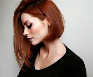 hair, beauty, and ginger image