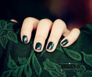 green, nails, and slytherin image