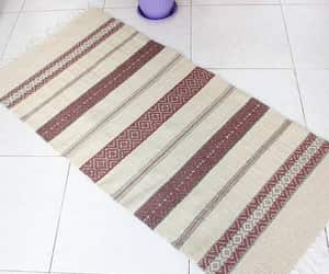 etsy, striped rug, and handwoven rug image