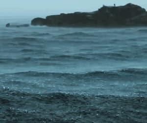 rain, sea, and gif image