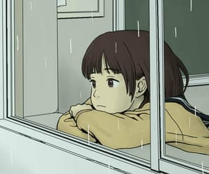 rain, anime, and sad image