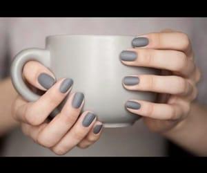 grey, nail polish, and nails image
