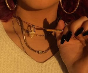 accessories, nail, and black image