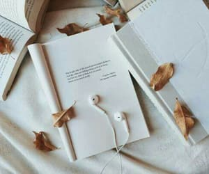 music, book, and fall image