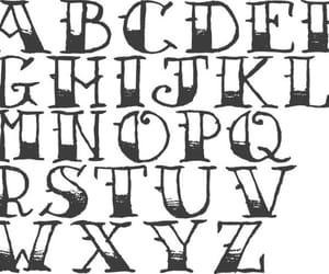 alphabet, calligraphy, and fonts image