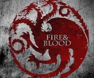 game of thrones, fire and blood, and targaryen image