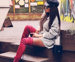 fashion, lady, and thigh high boots image