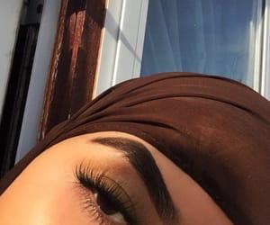 brown, eyelashes, and glam image