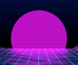 wallpaper, vaporwave, and neon image