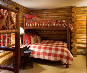 bed, chalet, and cottage image