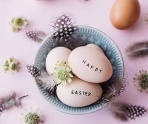 easter, egg, and flower image
