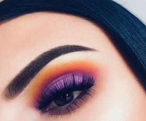 makeup, purple, and beauty image