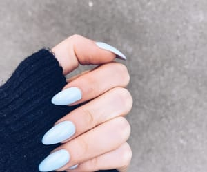 acryl, baby blue, and beauty image